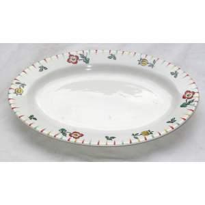 Porcelánový oválný talíř
