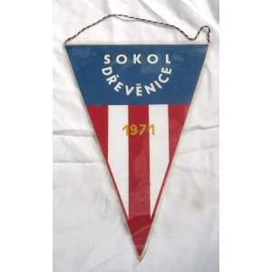 Sokol Dřevěnice 1971 - vlaječka