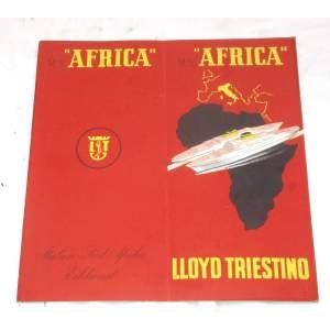 M/V Africa Lloyd Triestino - brožura výletní lodi 1952