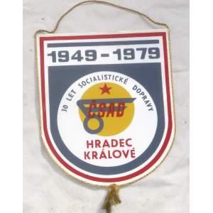 ČSAD Hradec Králové 30 let 1979 - vlaječka