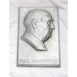 Jan Masaryk - plaketa,obraz,plastika