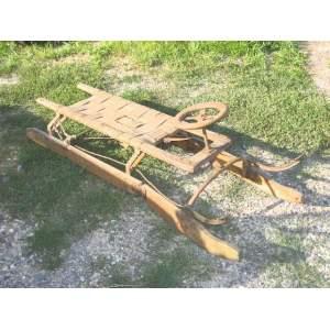 Dřevěné sáně s volantem Jáchymov