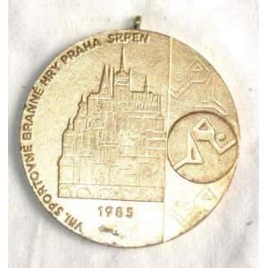 VIII. sportovně branné hry Praha srpen 1985 - plaketa