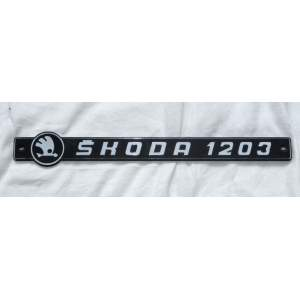 Škoda 1203 nápis
