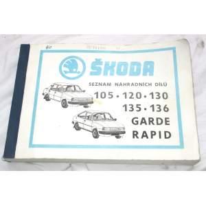 Škoda 105-136 seznam náhradních dílů
