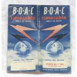 BOAC letový řád 1958